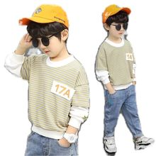 New Baby Boys Girls Sweatshirts Spring Classic Striped Cotton Hoodies Tops Children Kids Long Sleeve T Shirts Blouse Clothes
