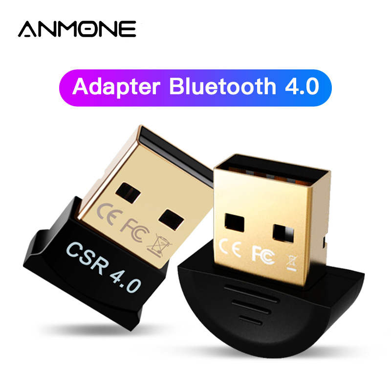 ANMONE Wireless USB Bluetooth Adapter For Computer Bluetooth 4.0 Dongle PC Adapter Wireless Sender USB Receiver Transmitter