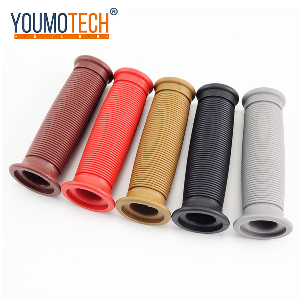 """White Rubber 7//8/"""" Handlebar Grips Pair Classic Style hard rubber 22mm"""