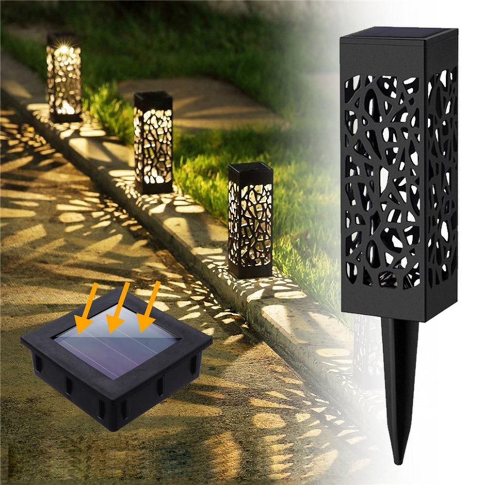 2/4/8 Piece LED Solar Garden Lights Lawn Light Flames Landscape Torch Light for Outdoor Patio Yard Waterproof Warm White