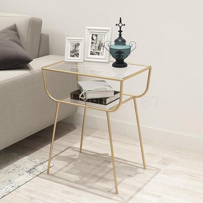 Us 132 37 27 Off Nordic Tea Table And A Few Modern Creative Simple Metal Gold Corner Sofa Wrought Iron Ark Of Bedside On