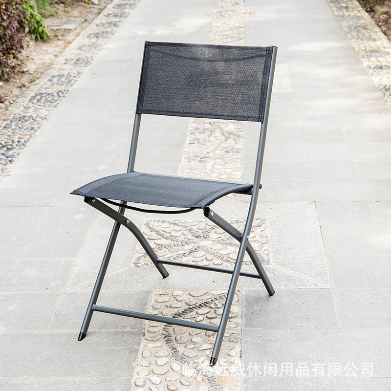Outdoor Ultra-Light Folding Chair Balcony Courtyard Portable Leisure Chair Backrest Folding Chair Manufacturers Direct Selling