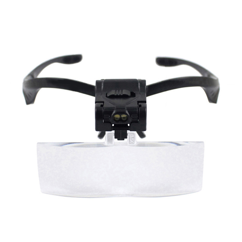 Head mounted Headband Magnifying Glass Eye Repair Magnifier LED Light Head mounted hot (NO BATTERY)|Magnifiers|   - AliExpress