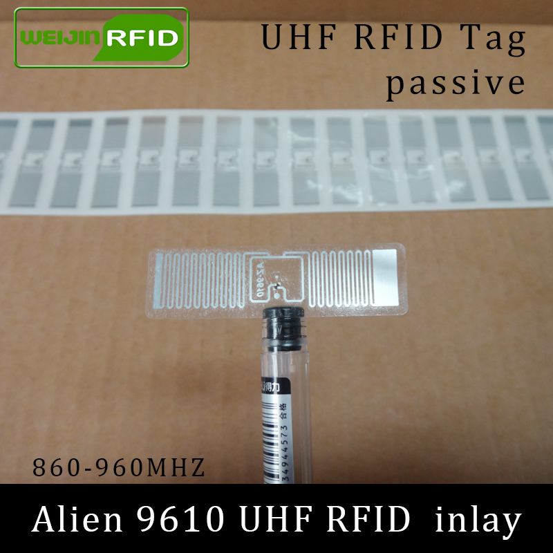 UHF RFID Sticker Tag Alien 9610 Inlay 915mhz 900 868m 860-960MHZ Higgs3 EPC C1G2 ISO18000-6C Smart Card Passive RFID Tags Label