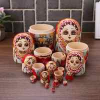 5/10pcs Matryoshka Dolls Basswood Wooden Toys Russian Nesting Dolls Children Kid Gift Traditional Handmade Crafts