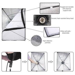 Image 3 - Профессиональный световое Фотооборудование комплект с софтбоксом мягкий зонтик фоновая стойка фронтальное освещение лампы Фотостудия