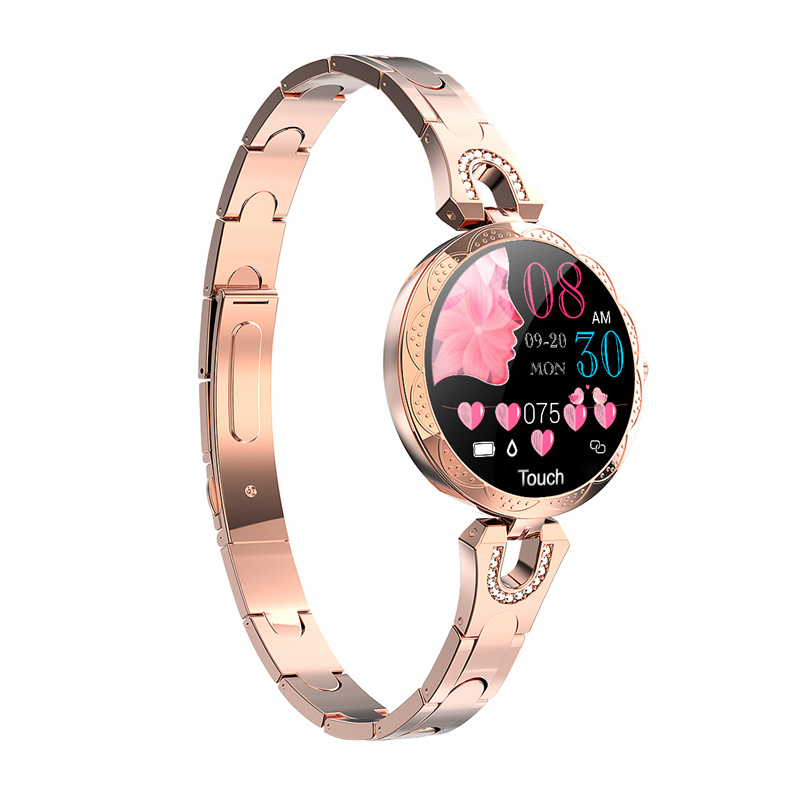 AK15 <font><b>Smart</b></font> <font><b>Watch</b></font> Luxury Women <font><b>2019</b></font> <font><b>New</b></font> ladies fashion Waterproof blood pressure blood Bluetooth Fitness Tracker Bracelet image