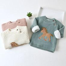 Girls Sweaters Tops Pullovers Wool IENENS Toddler Baby Boys Kids Cartoon Children Coats