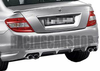 C STYLE TRUNK BOOT LIP SPOILER PU fit for MERCEDES BENZ W204 C-CLASS 2007-2012 M018F 1