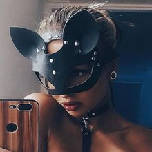 цена на 2019Leather Half Face Mask Fox Face Masks Flirting Cosplay Costume Accessory Party Halloween Mask Decoration