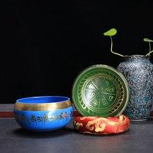 9.5cm Arrivials Buddhism Accessory Tibetan Meditation Hammered Alms Bowl Yoga Copper Sound Therapy Chakra Singing