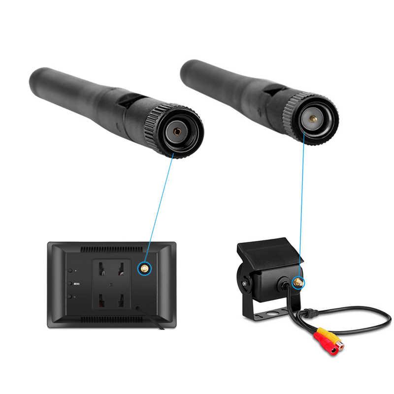 YuanTing bezprzewodowy samochód Auto 5 cal ekran monitora LCD kopii zapasowych wodoodporna widok z tyłu kamery cofania System parkowania dla autobus ciężarówka