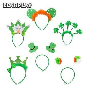 Ободок с клевером для волос для мужчин и женщин, праздничная повязка для волос в виде короны на День Святого Патрика, зеленый цвет, вечерние ...