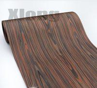 Comprimento: 2.5 metros de espessura: 0.3mm largura: 55cm de madeira tecnológica casca folheado de madeira de cedro preto|Acessórios de móveis|   -
