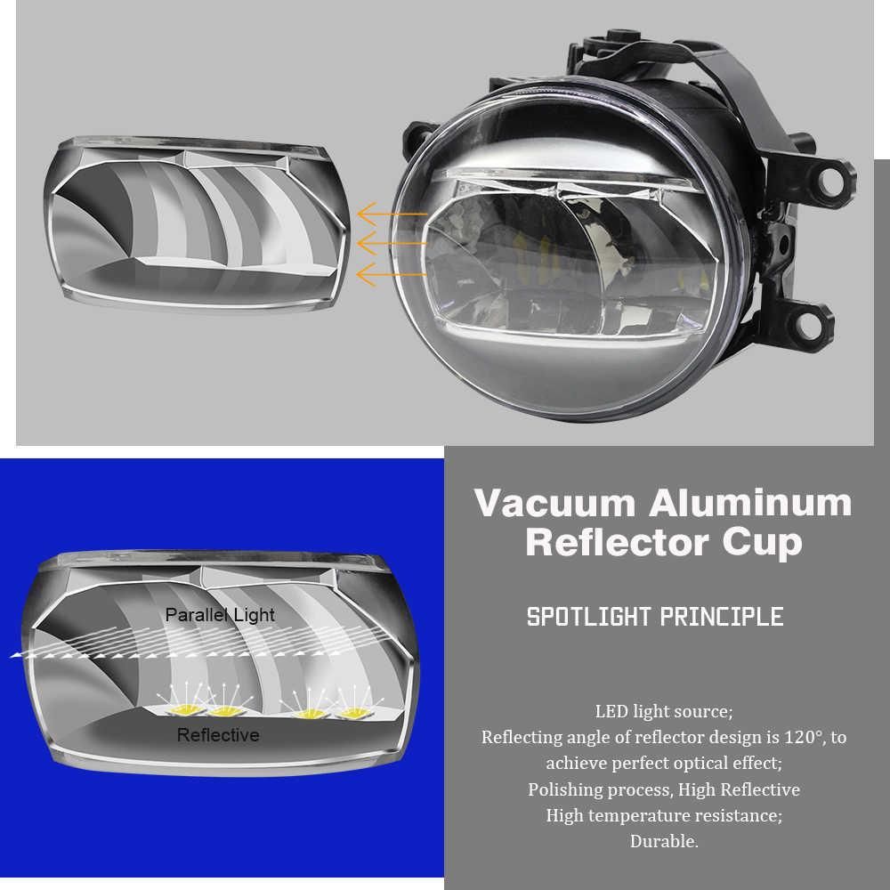 De marca Cawanerl para coche luz antiniebla 4000LM H11 bombilla LED DRL lámpara de circulación diurna blanco 5000K 12V accesorios para Scion xA 2006