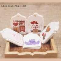 Feiluan, Новое поступление, большая форма гребешка, милая любовь, дизайн, свадебная этикетка, полноцветный принт, подарки, бирка, 100 шт./лот