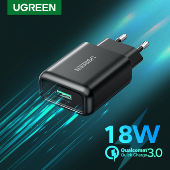 UGREEN 18W USB Charger QC3.0 Quick Charge 3.0 QC Fast Wall Charger for Samsung s10 Xiaomi iPhone Huawei Mobile Phone Charger baseus quick charge 3 0 usb charger for iphone samsung xiaomi huawei mobile phone 18w pd3 0 pd qc3 0 qc usb type c fast charger