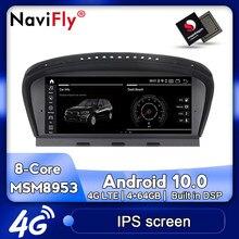 NaviFly-reproductor multimedia API29 para coche, sistema de navegación GPS, Android 10,0, para BMW serie 5, E60, E61, E62, E63, E64, E90, E91, E92, CCC, CIC
