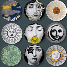 Vintage Lina Face Decorative Plate Morden and Retro Ceramic Wall Hanging Dish Painting Plates Creative Craft Wall Art