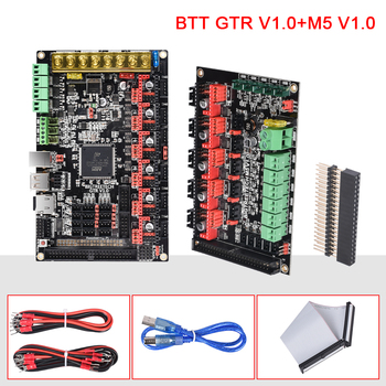 цена на BIGTREETECH GTR V1.0 32 Bit Motherboard Dual Z With M5 Expansion Board Support TMC2209 TMC5160 11Motor Drive For 3D Printer