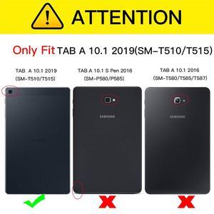 Image 2 - Чехол для Samsung Galaxy Tab A 10,1 дюймов планшет 2019 T510/T515 PU кожаный складной чехол книжка с несколькими углами обзора