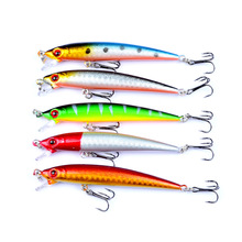цена 1 PCS 9cm 6g Hard Bait Minnow Fishing Lure Pesca Hook Fish Wobbler Crankbait Tackle Artificial Lures онлайн в 2017 году
