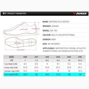 Image 5 - DUHAN botas protectoras de carreras para motocicleta para hombre, zapatos de malla para motocicleta, botas de carreras todoterreno para Motocross, botas para motocicleta