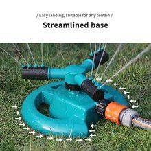 360 stopni koło obrotowe zraszacze ogrodowe automatyczne nawadnianie trawa woda do podlewania trawników zraszacze trzy Arm dysze zraszacze ogrodowe tanie tanio Dial Sprinkler