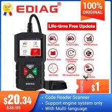Ediag YA201 kod okuyucu OBDII/EOBD YA 201 USB yükseltme OBD2 tarayıcı YA101 araçları otomatik PK KW680 CR319 AD310 araba test cihazı