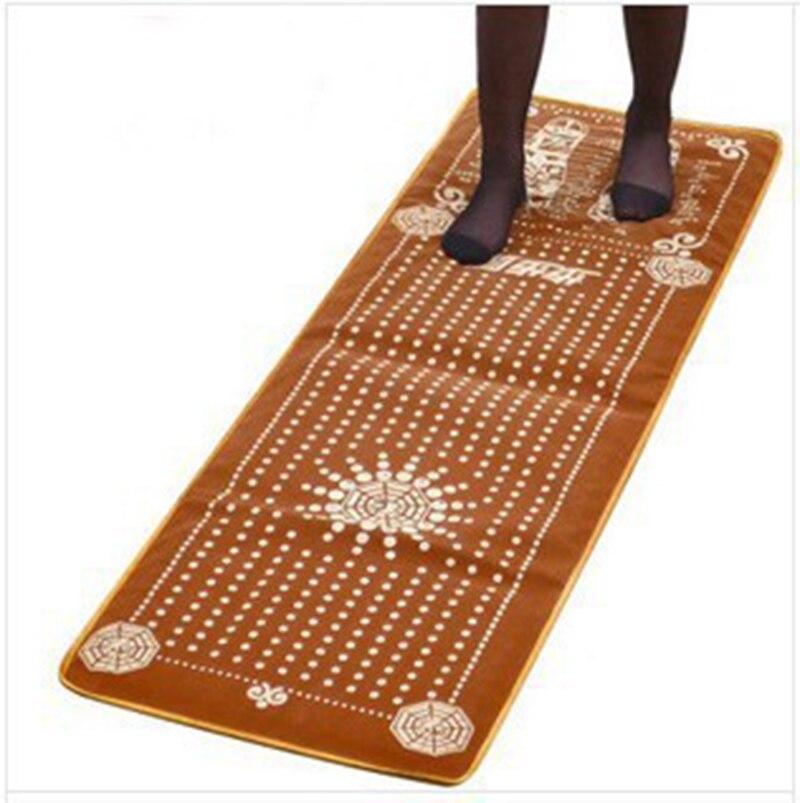 Tourmaline Blanket Mat Foot Massage Pad Foot Pad Shortfalls Energy Massage Mat Walking Carpet Promote Blood Circulation 145*46cm