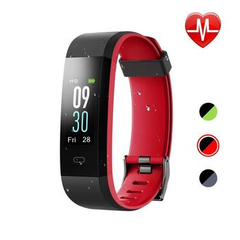Smart Watch Fitness Tracker HR Screen Activity Tracker Heart Rate Monitor Sleep Monitor Step Counter IP68 Waterproof ID115Plus