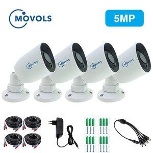 Image 1 - Камера видеонаблюдения Movols, AHD/TVI/CVI/аналоговая 4 в 1 с ночным видением, 60 футов, Кабель BNC и DCplug для системы DVR