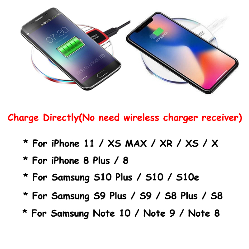 Wireless Charger Charging Pad For iPhone XS MAX XR X 8 Plus Case For Samsung S10 S9 S8 Plus Note 9 8 Chargeur Sans fil  Coque (2)
