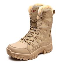 Zimowe ciepłe buty wojskowe antypoślizgowe mężczyźni Desert taktyczne buty wojskowe męskie buty robocze Safty buty wojskowe Militares buty męskie tanie tanio JUMPMORE Pracy i bezpieczeństwa CN (pochodzenie) Mesh (air mesh) Połowy łydki Stałe Dla dorosłych Krótki pluszowe