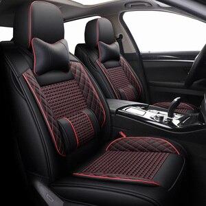 Image 2 - New Leather&ice silk car seat covers For Volkswagen 4 5 6 7 vw passat b5 b6 b7 polo golf mk4 tiguan jetta touareg accessories