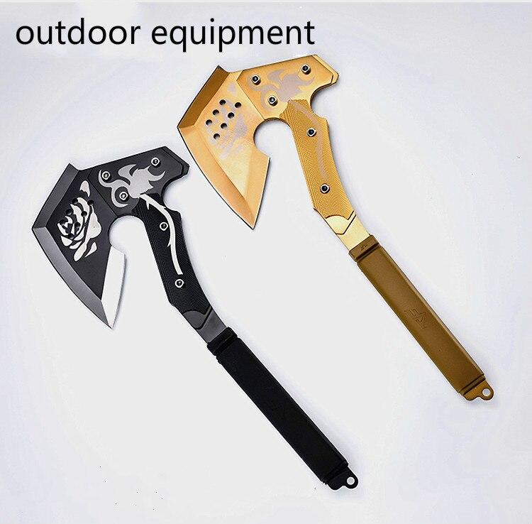Camp Axe Golden Rose Hand Axe Tomahawk Army Outdoor Hunting Camping Survival Machete Axes Hand Tools Fire Axe
