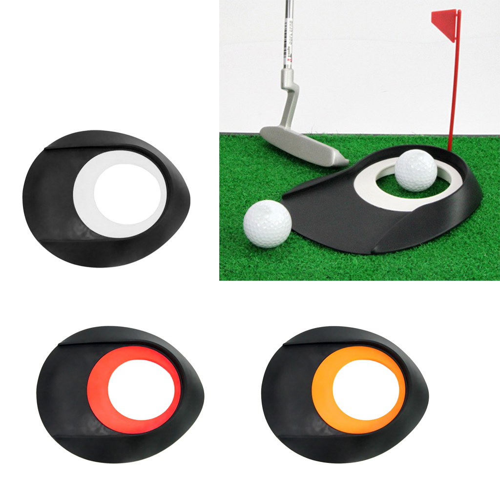 Portable Golf Mat Practice Putting Cup Hole Golf Putting Trainer Tool For Indoor Outdoor Office Home Backyard Putt Training