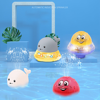 Juguetes de baño para bebés, juego de ducha, agua, ballena, Spray, diversión, luz LED, bola Musical, niños, bañera, juguetes de baño impermeables para niños, regalo