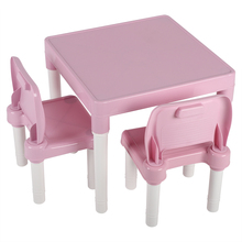 Childrens Kids Plastic Table Chair Set Learning Studying Kin