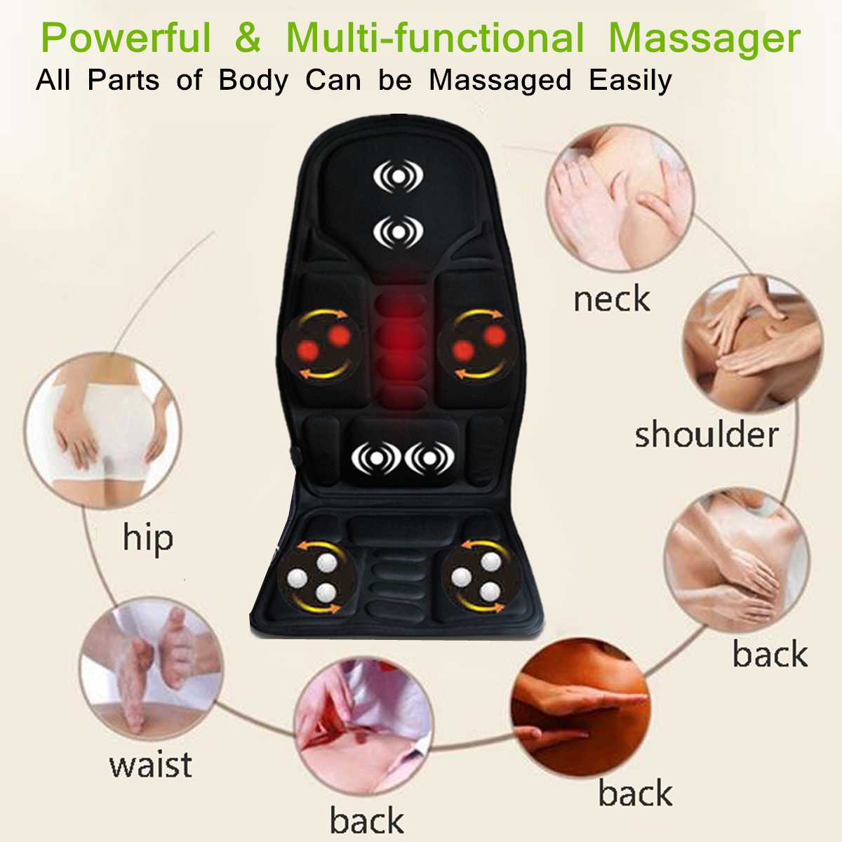 car chair body massage heater Multi functional