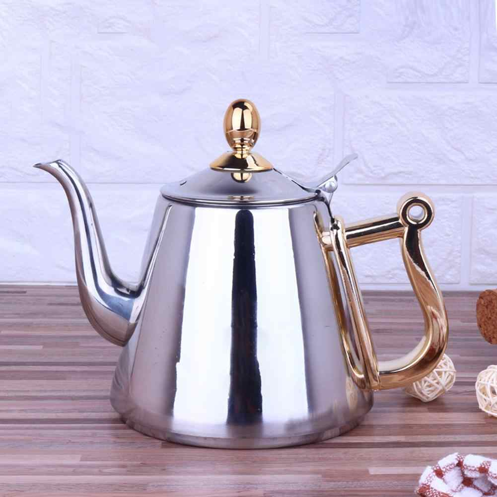 1.5L Kettle Strainer Stainless Steel Teapot Polish Fashion Durable Coffee Cold Water Pot Home Tea Tool Induction Cooker Kettle