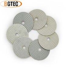 Bgtec 4 дюйма 7 шт/компл влажные Алмазные Гибкие Полировальные