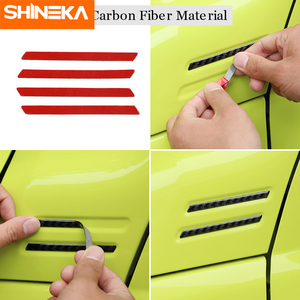 Image 4 - SHINEKA Carbon Fiber Sticker Car A pillar Corner Decorative Cover for Suzuki Jimny 2019 2020 Aluminum Alloy Exterior Accessories