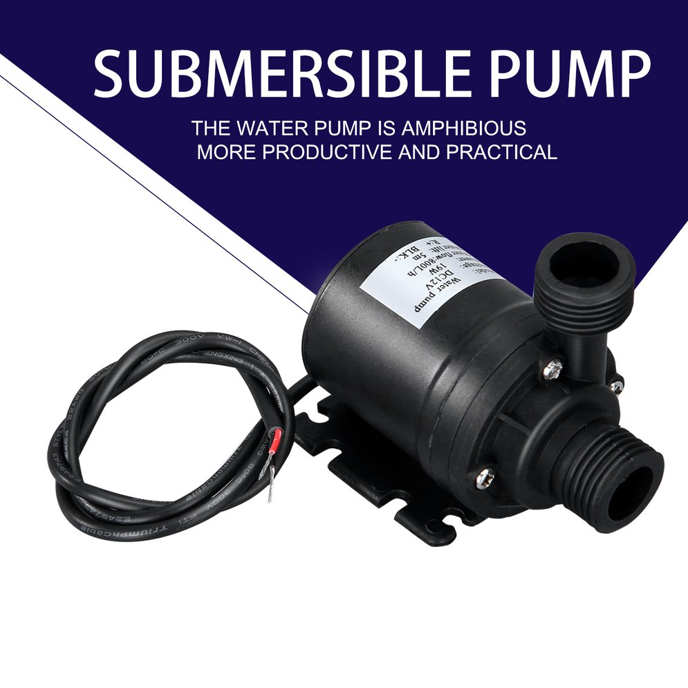 Professional Ultra Quiet Mini DC 12V Lift 5M 800L/H Brushless Motor Submersible Water Pump Multifunction Threaded Water Pump