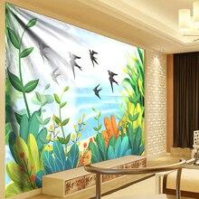 Tropical Plant Tapestry Cartoon Swallow Wall Hanging Thin Bohemia Cactus Banana Leaf Cloth Flat Sheets Beach Towel