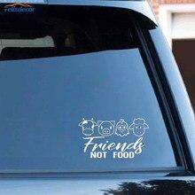 Preto/prata bonito amigos veganos sem comida vaca frango carne de porco cordeiro decalque janela vinil capa do carro adesivos c307