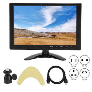 Universal 10.1in Portable Monitor 1280x800 16:10 HD LCD Display Support HDMI VGA AV Input for Raspberry Pi for Xbox 360 for PS4