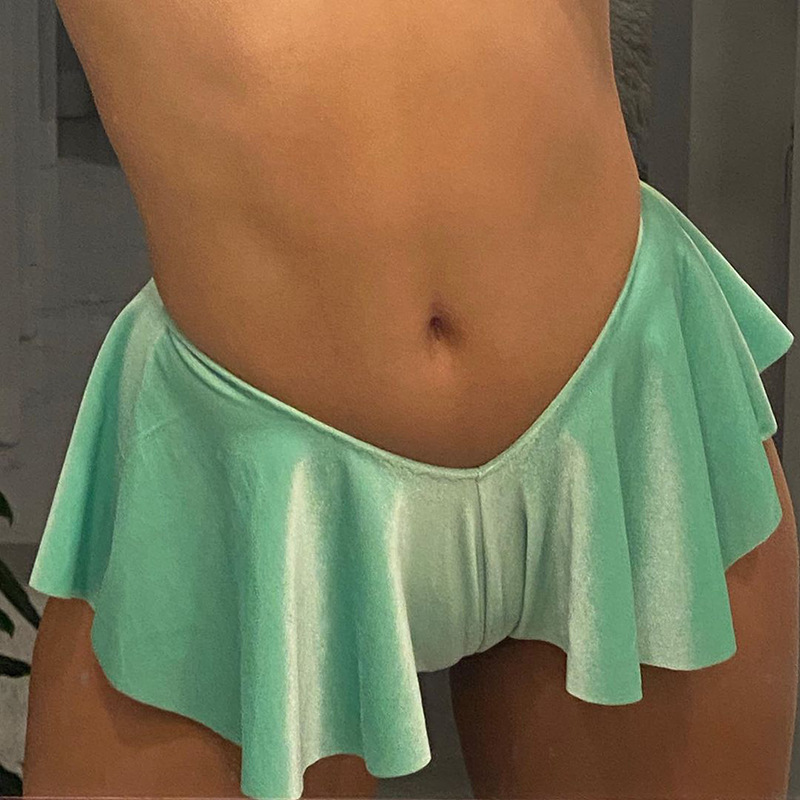 Exotic Sexy Low Waist Shorts Skirts Women Party Club Pole Dance Wear Summer Beach Vacation Wear Bodycon Shorts Mujer 3