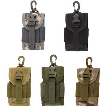4.5 Inch Molle Bag Tactical Wallet Card Pouch Military Waist Bag Waterproof Card Key Holder With Carabiner For Camping Hunting 1
