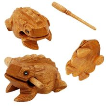 Funny Wooden Frog Vent Toy Creative Home Decorations Ornaments Wood Carving Toad Toy Kid Adult Pressure Relief Toy Gift